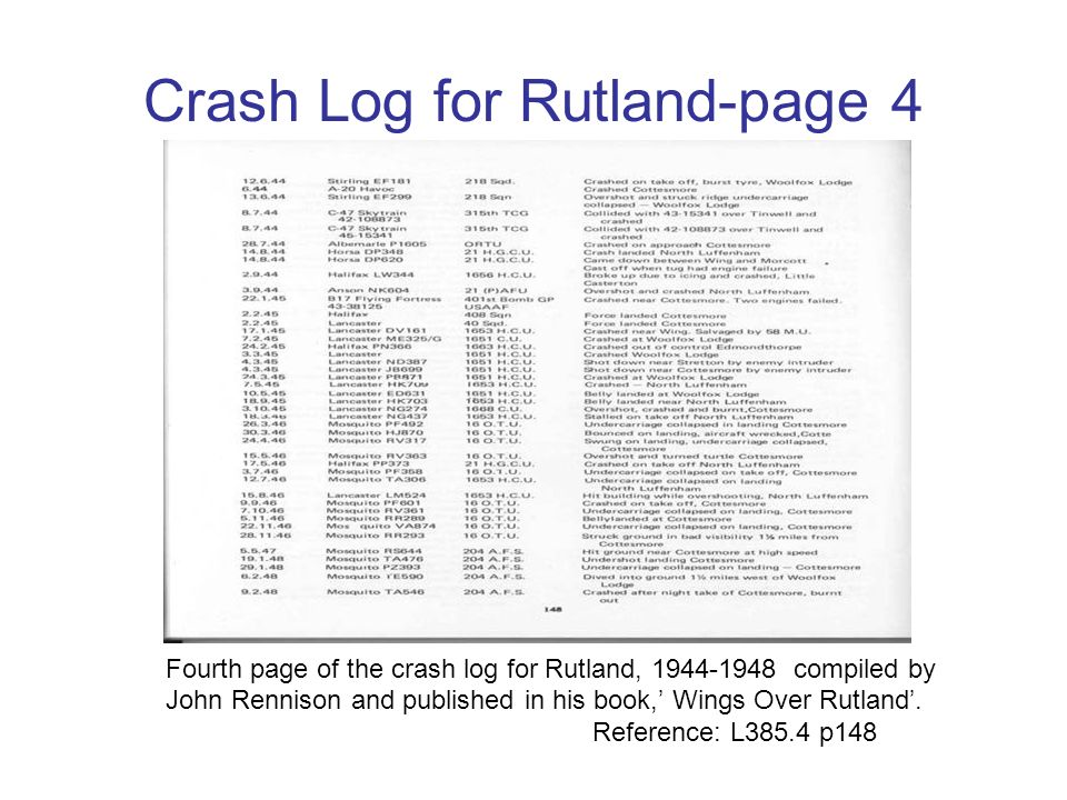 Crash Log for Rutland-page 4