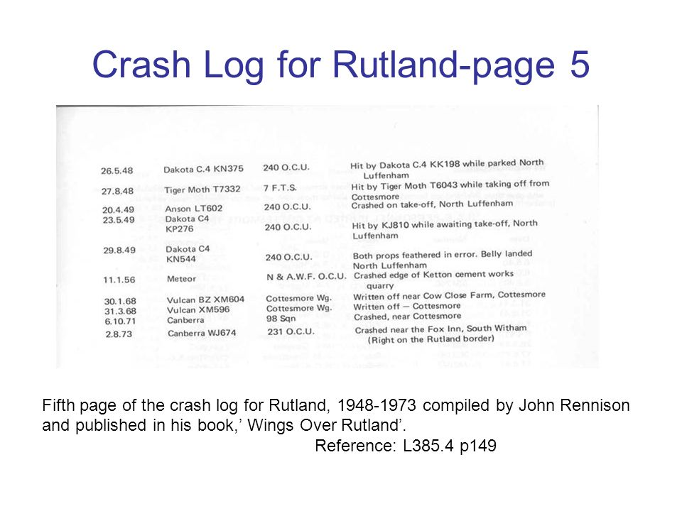 Crash Log for Rutland-page 5