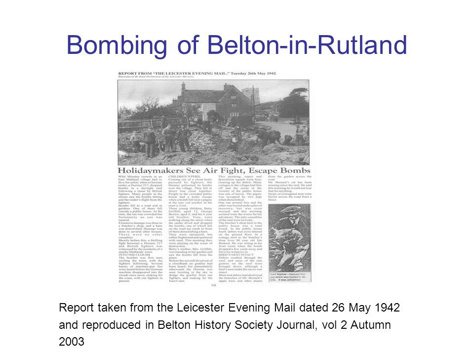 Bombing of Belton-in-Rutland
