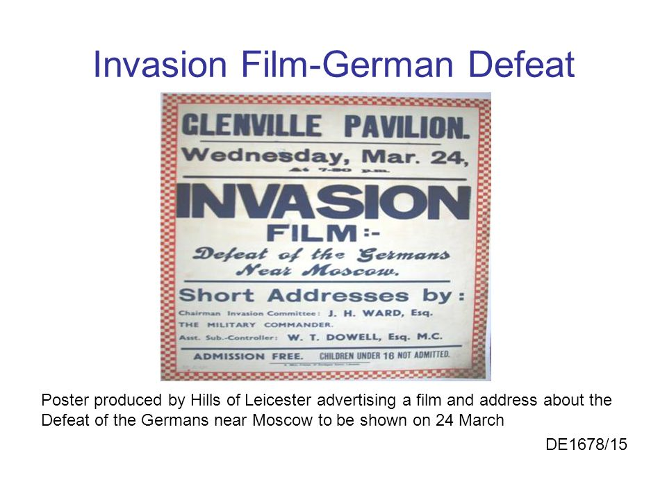 Invasion Film-German Defeat