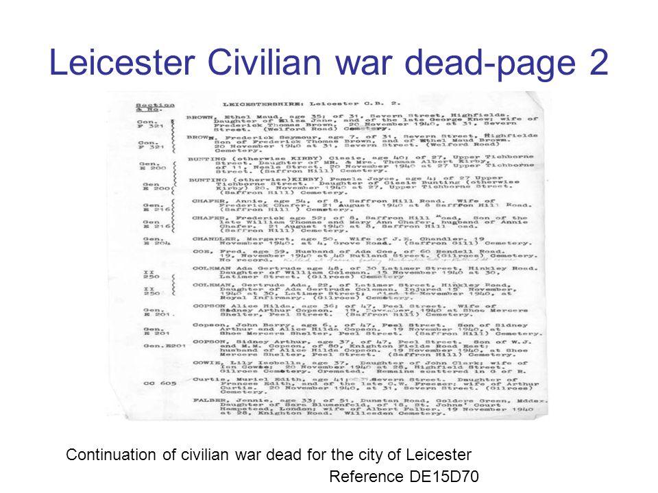 Leicester Civilian war dead-page 2