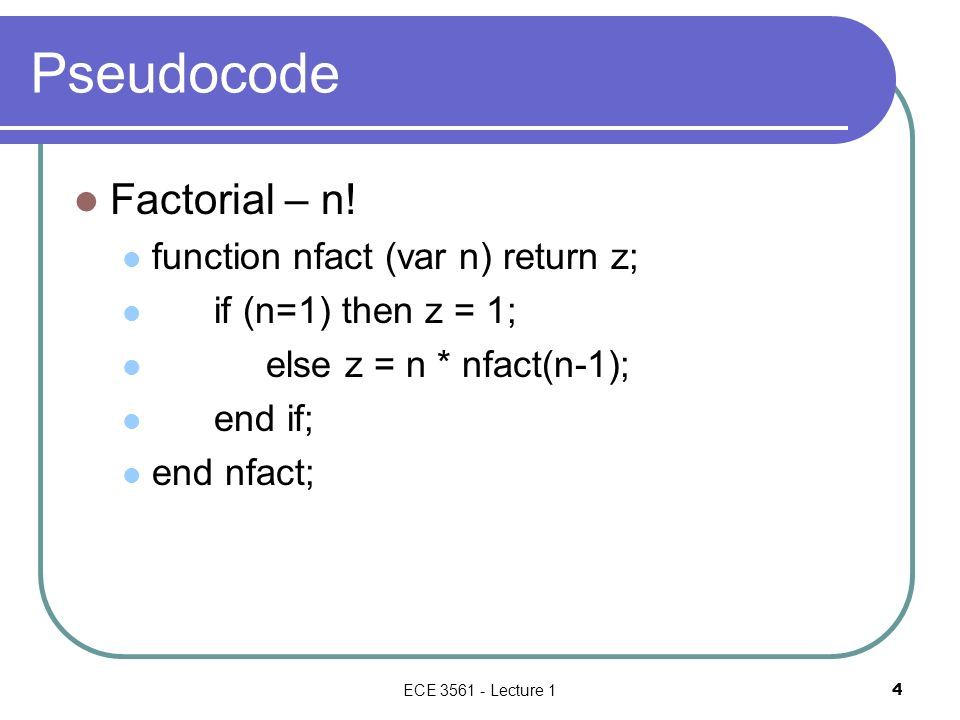 L12-Computing Factorial - ppt download