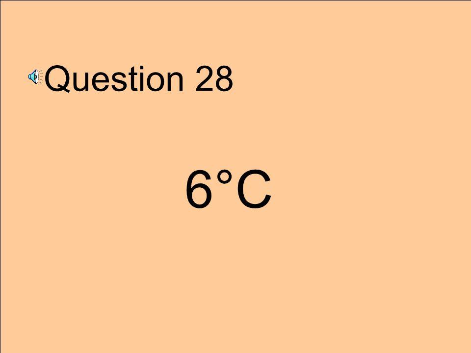 Question 28 6°C