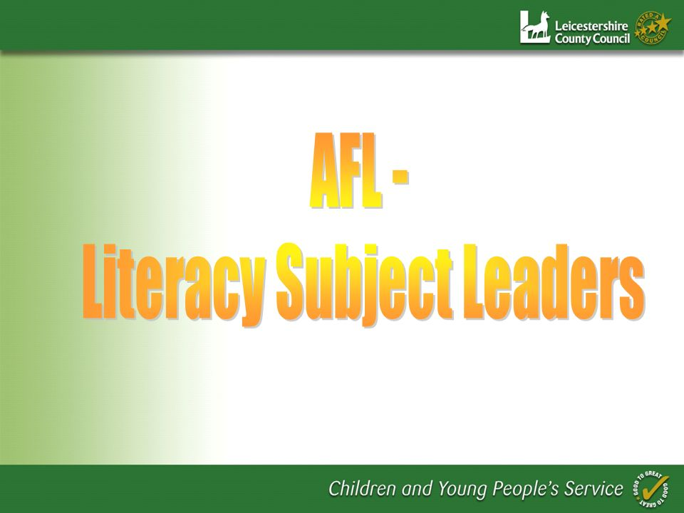 Literacy Subject Leaders