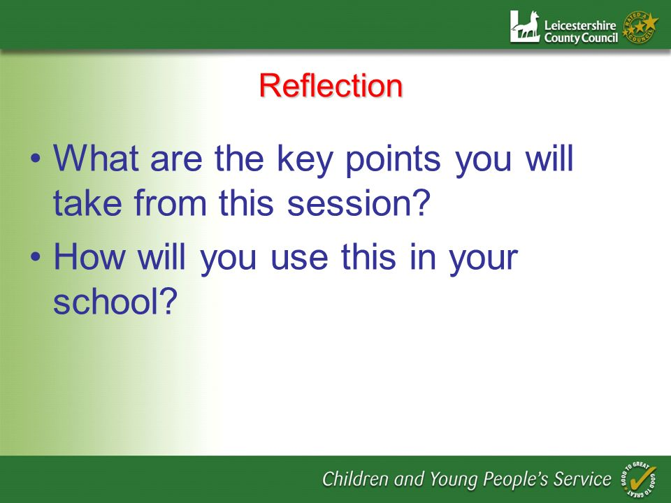 What are the key points you will take from this session
