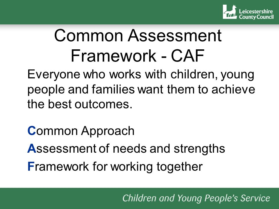 Common Assessment Framework - CAF