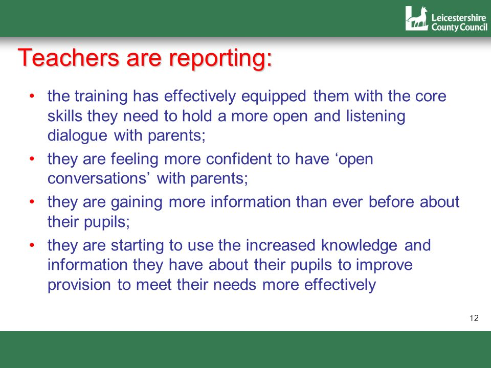 Teachers are reporting: