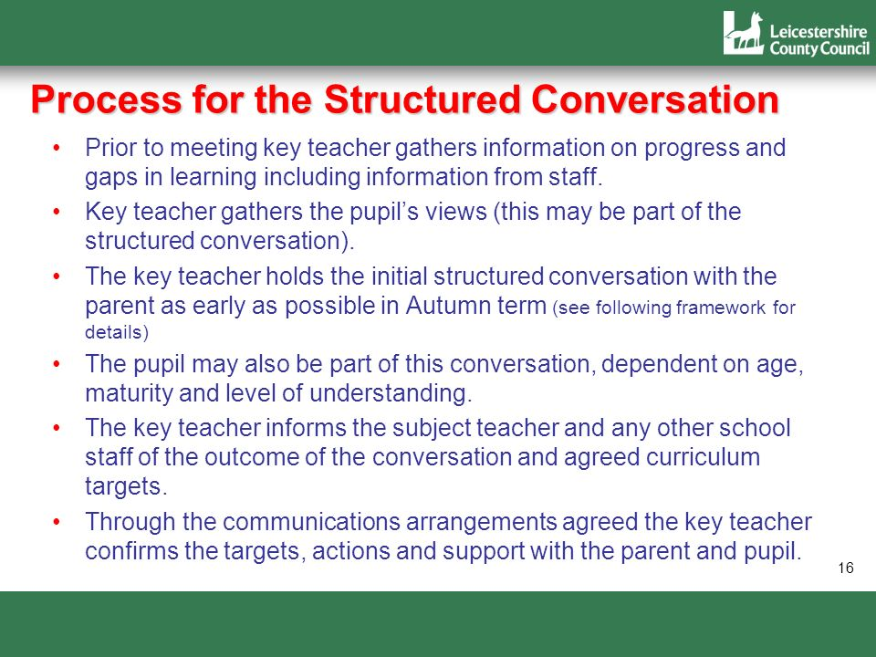 Process for the Structured Conversation