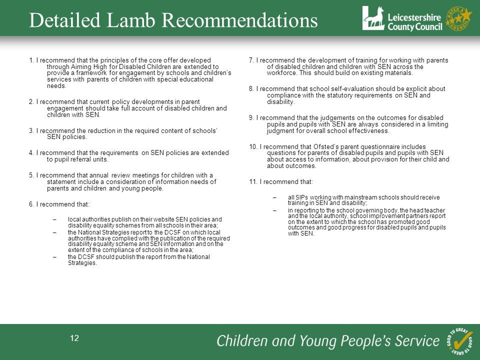 Detailed Lamb Recommendations