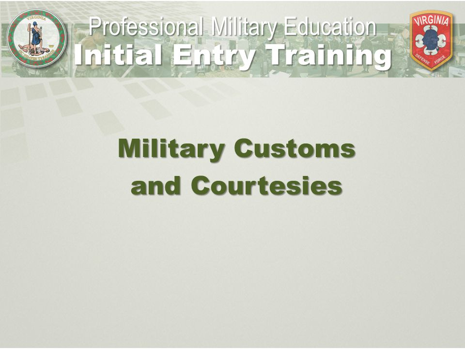 military customs and courtesies Start studying customs and courtesies learn vocabulary, terms, and more with flashcards, games, and other study tools.