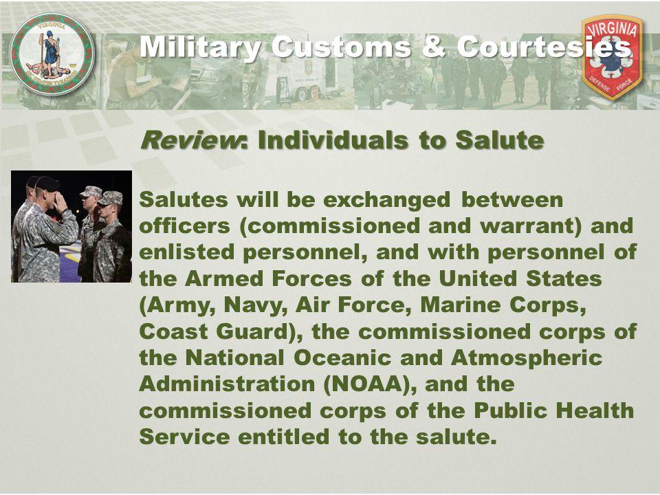 customs courtesies