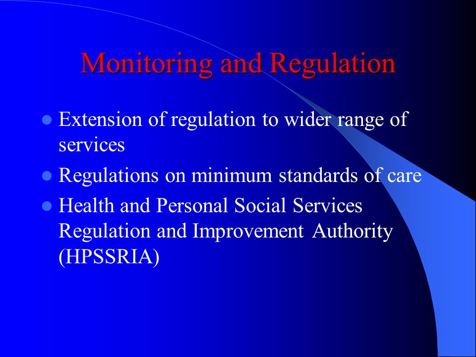 Monitoring and Regulation