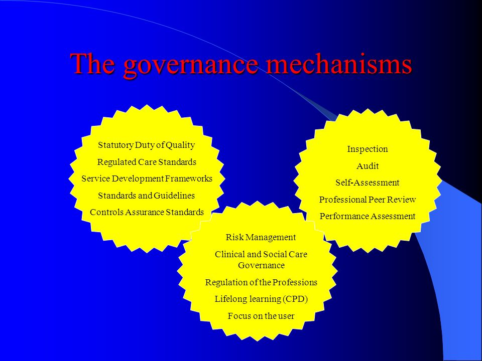 The governance mechanisms