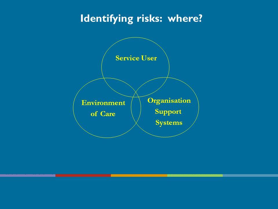 Identifying risks: where