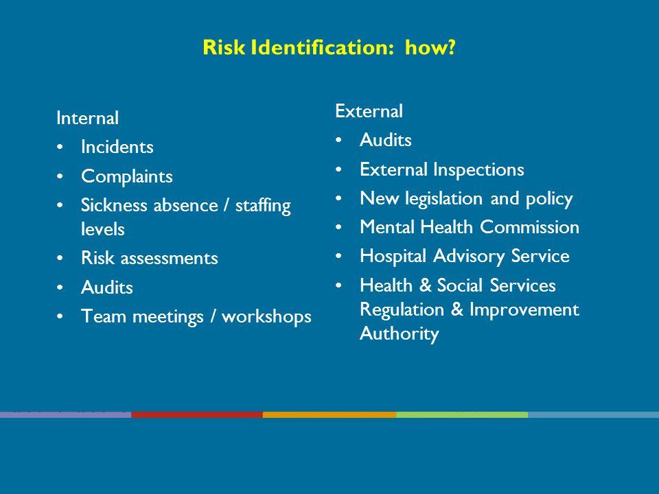 Risk Identification: how