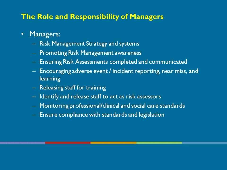 The Role and Responsibility of Managers