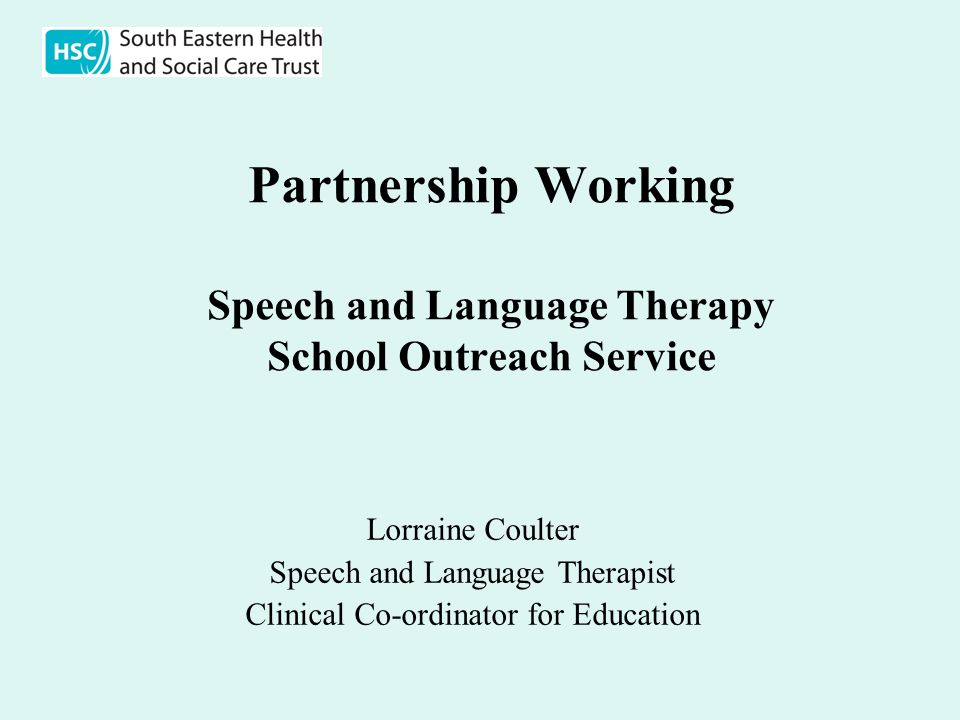 Partnership Working Speech and Language Therapy School Outreach Service