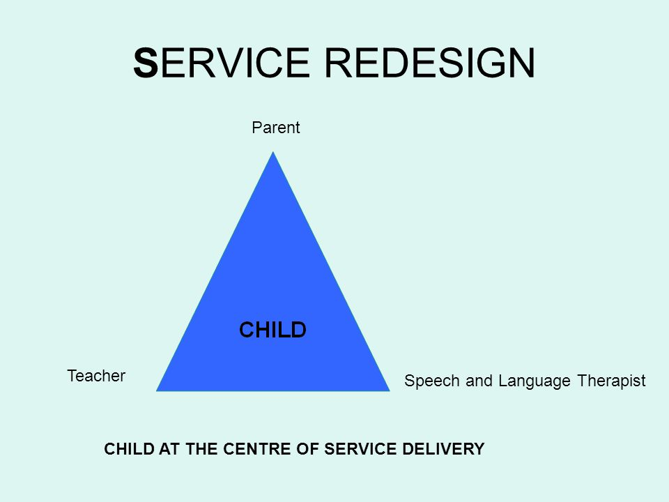 CHILD AT THE CENTRE OF SERVICE DELIVERY