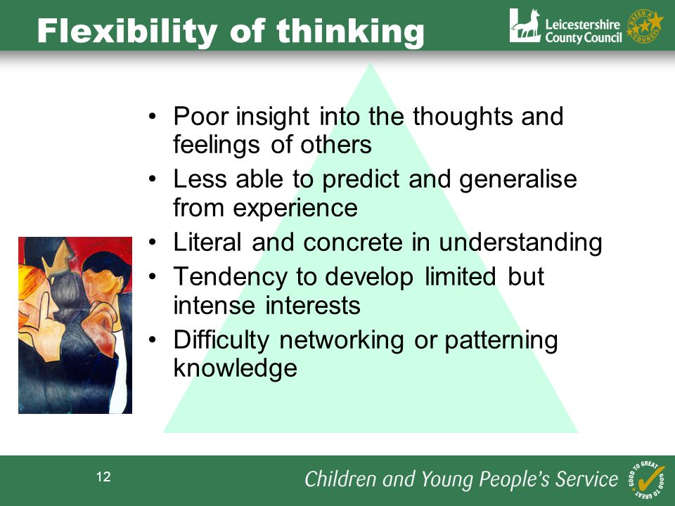 Flexibility of thinking