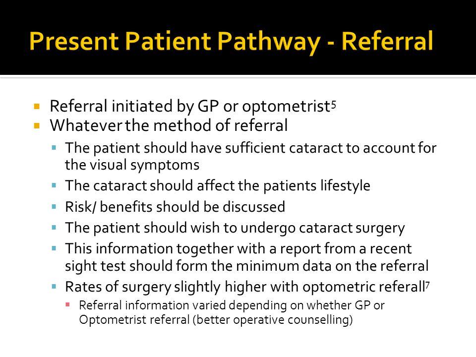 Present Patient Pathway - Referral