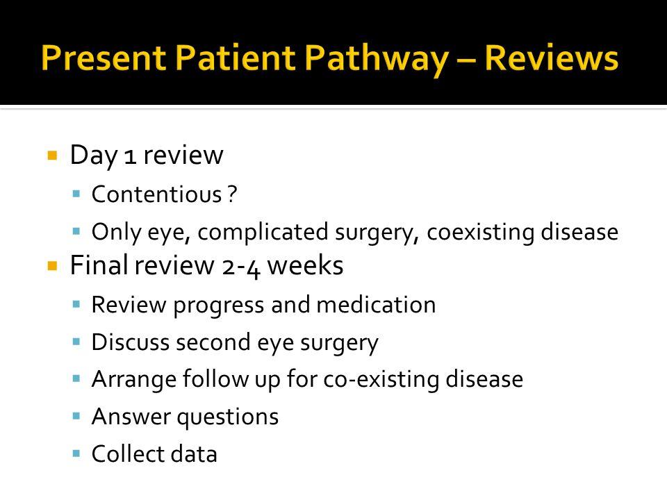 Present Patient Pathway – Reviews