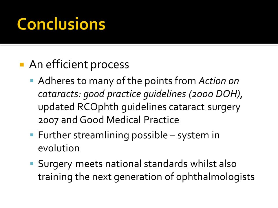 Conclusions An efficient process