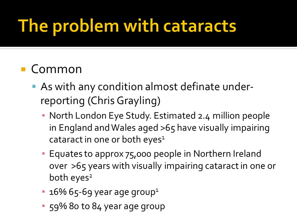 The problem with cataracts