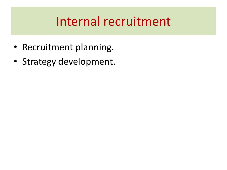 how to set up a employment primary recruitment model