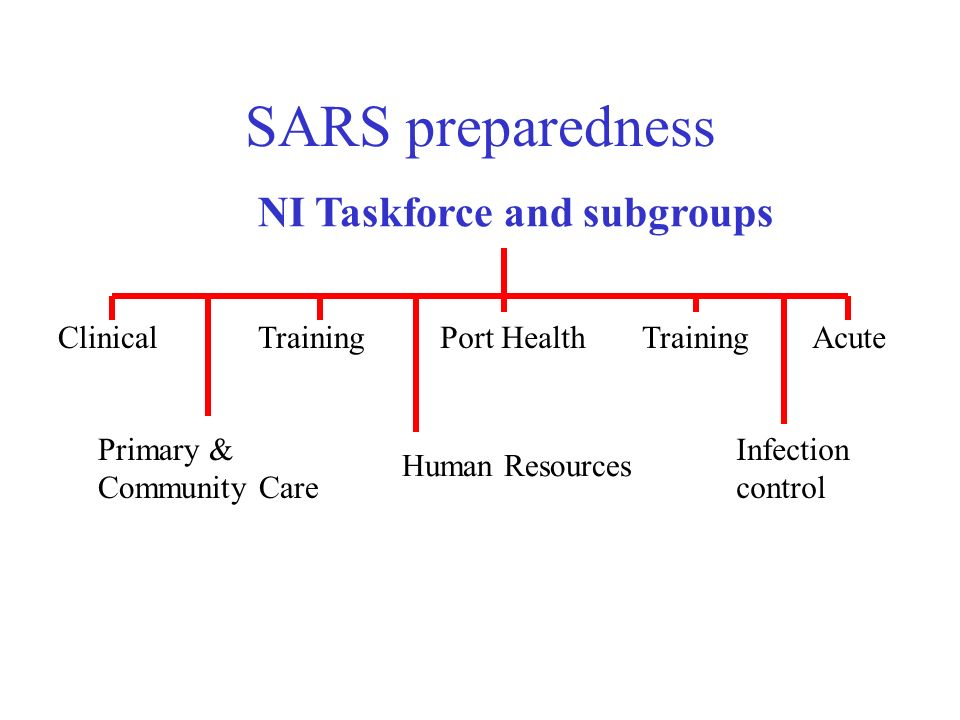 SARS preparedness NI Taskforce and subgroups Clinical Training