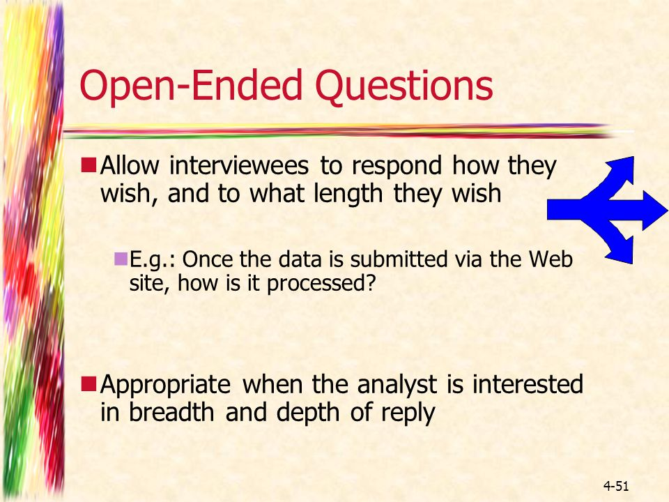 advantages of open ended questions pdf