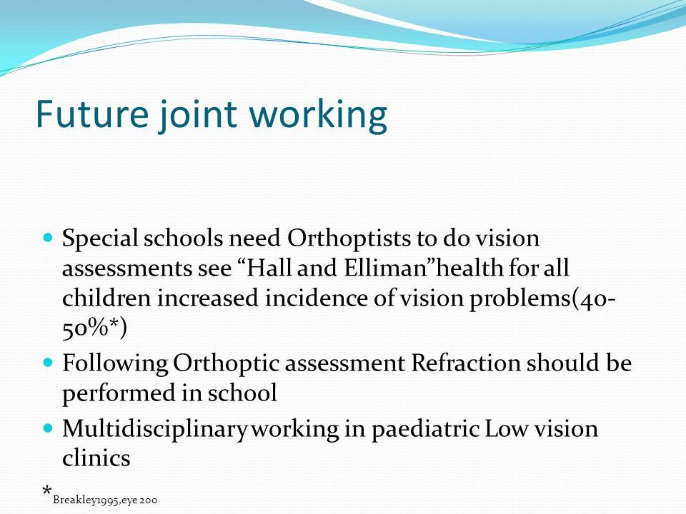 Future joint working *Breakley1995,eye 200