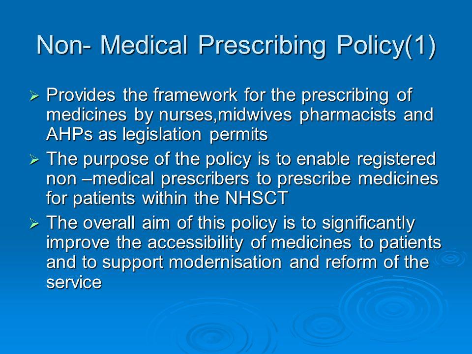 Non- Medical Prescribing Policy(1)