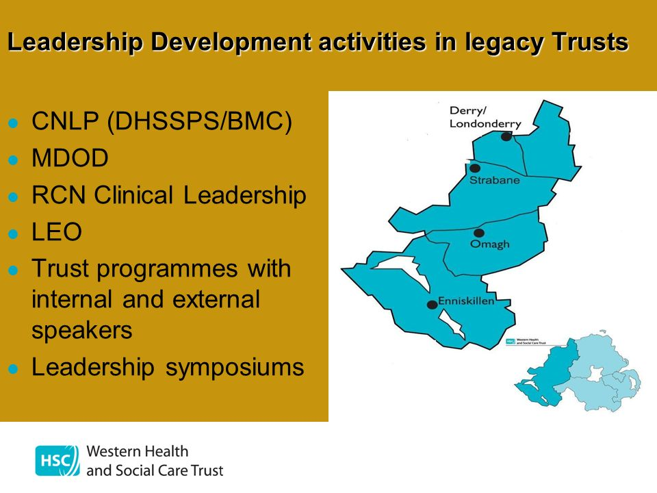 Leadership Development activities in legacy Trusts