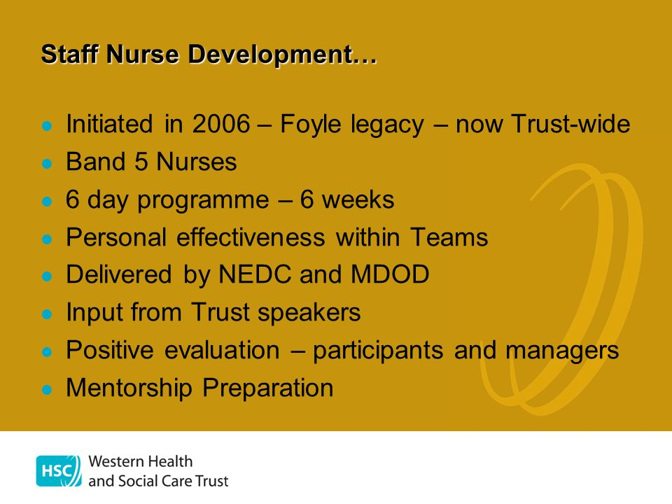 Staff Nurse Development…