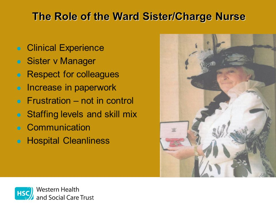 The Role of the Ward Sister/Charge Nurse