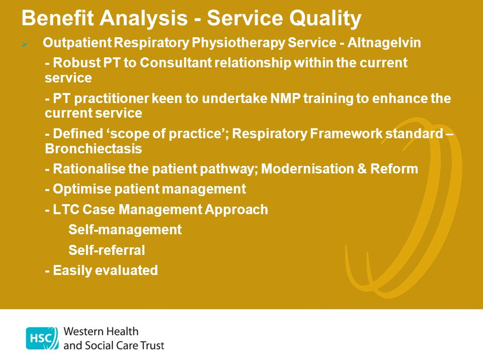 Benefit Analysis - Service Quality
