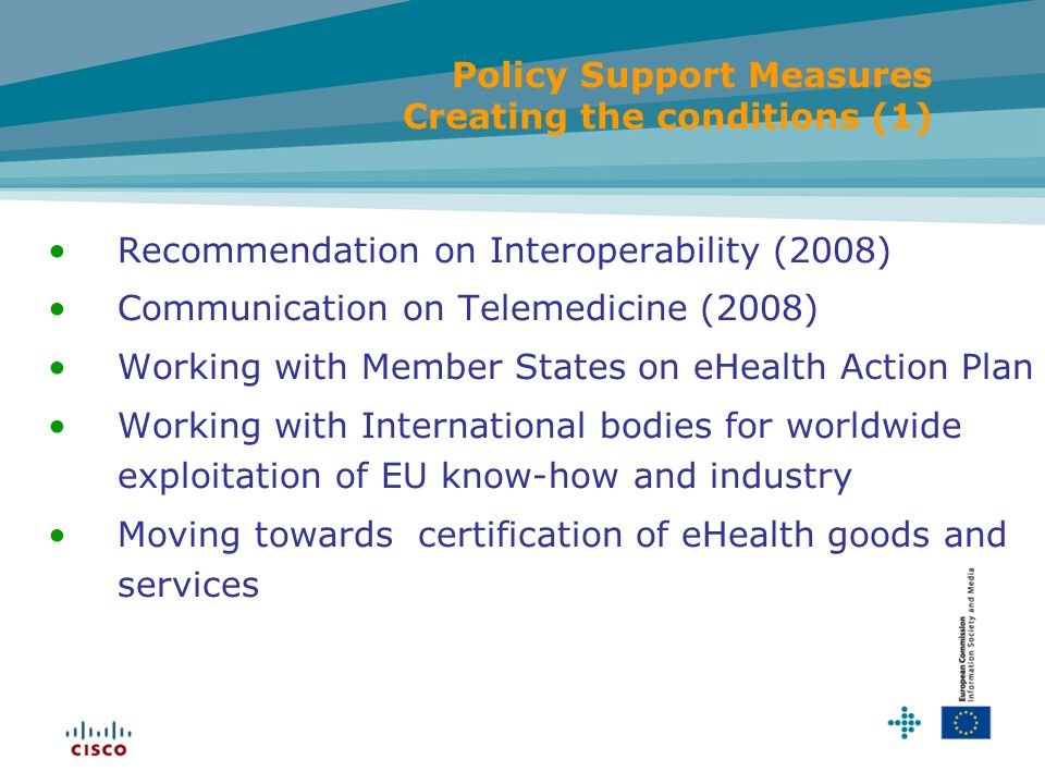 Policy Support Measures Creating the conditions (1)