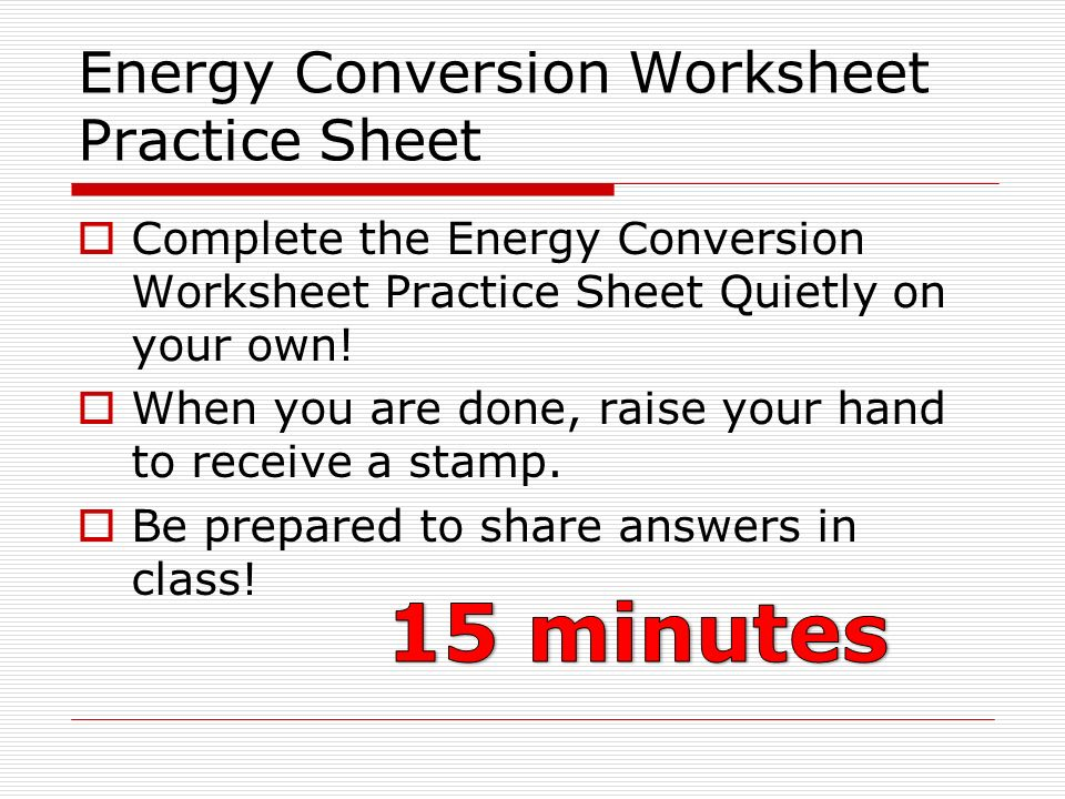 Do right till the stars fall ppt video online download – Energy Conversion Worksheet