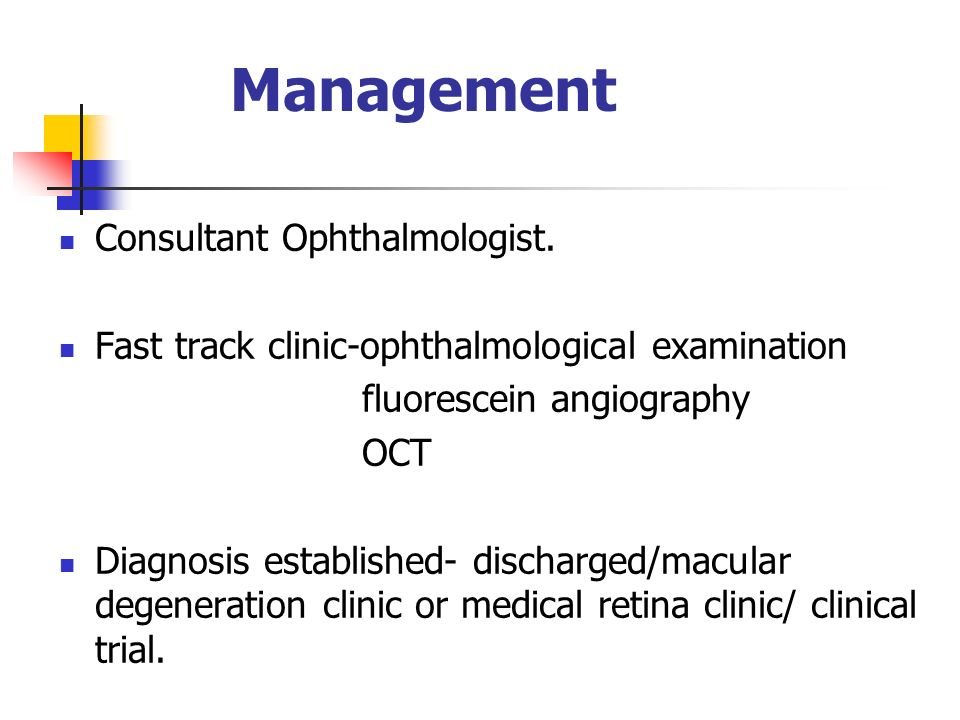 Management Consultant Ophthalmologist.