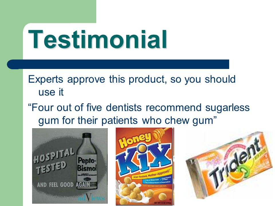 Testimonial Experts approve this product, so you should use it