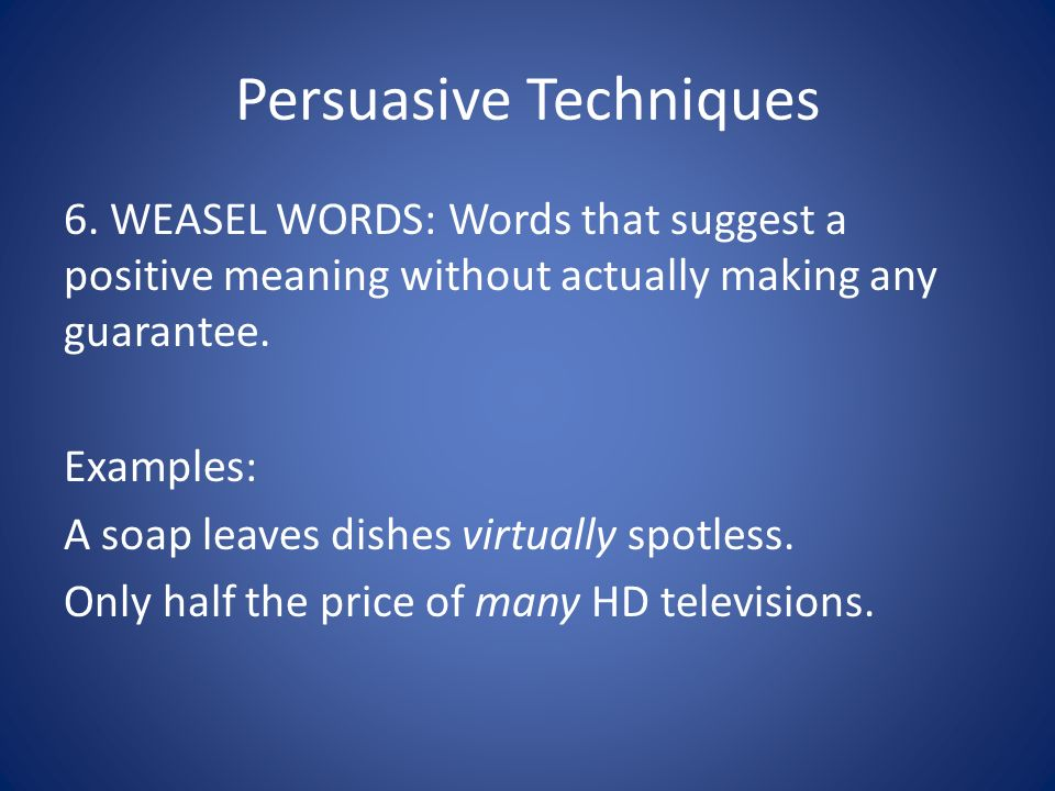 Advertising And Persuasive Techniques
