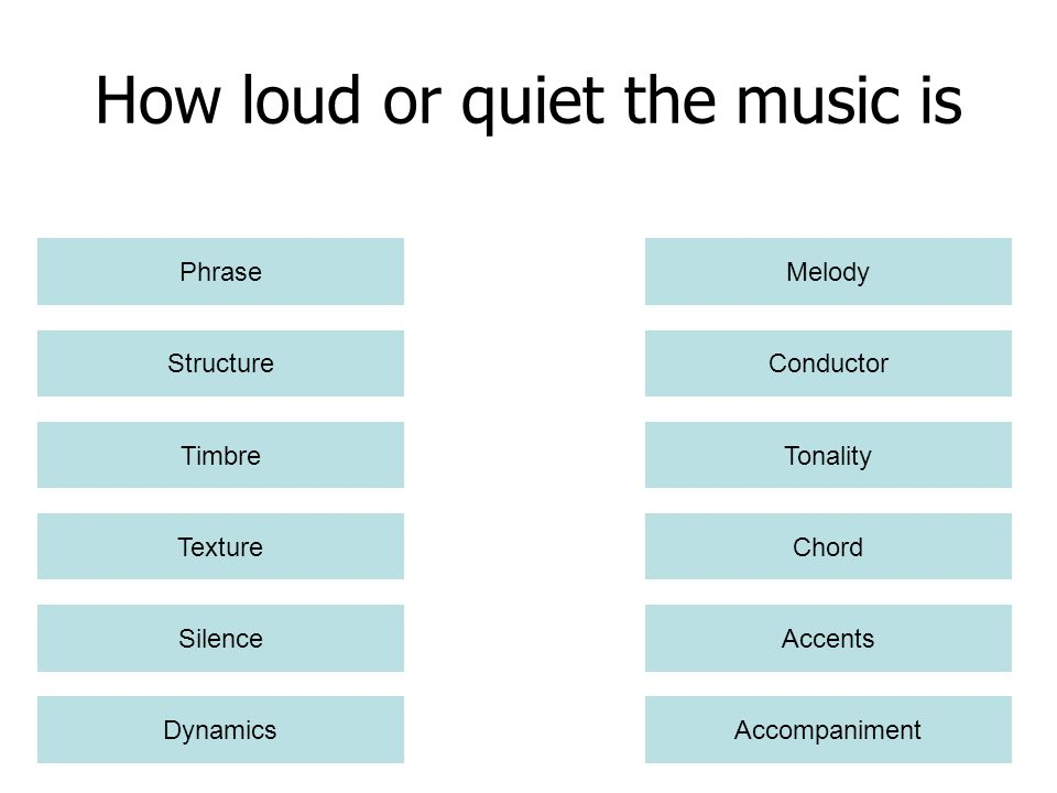 How loud or quiet the music is