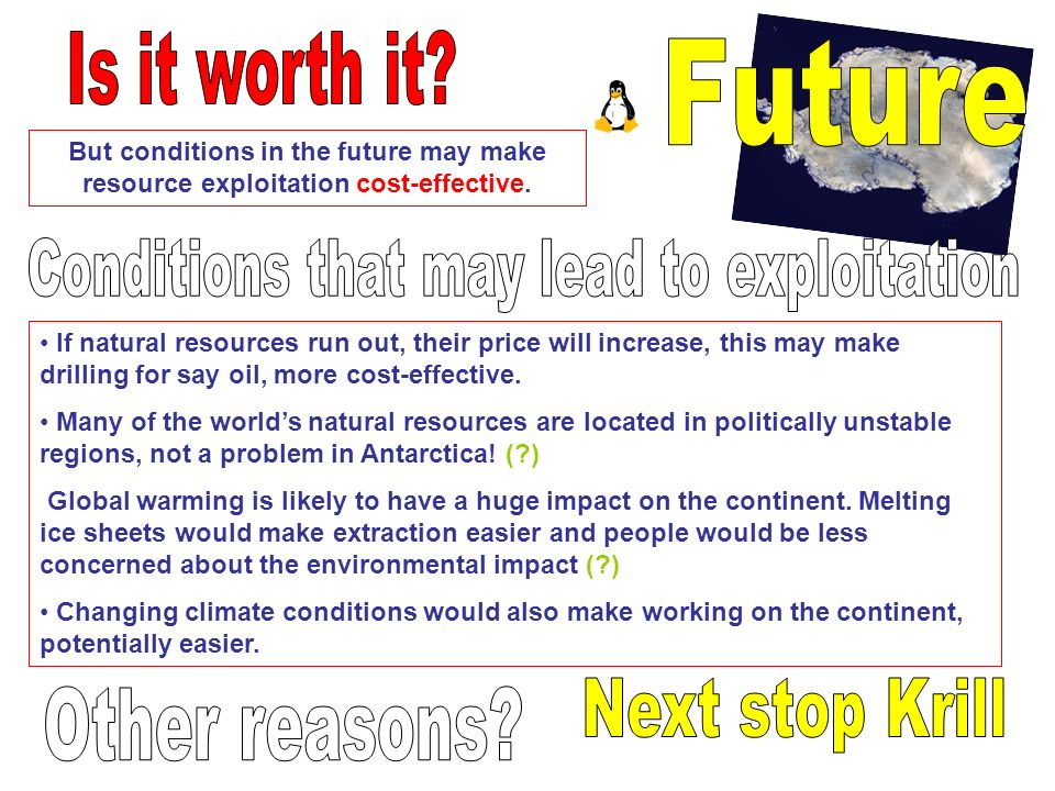 Conditions that may lead to exploitation