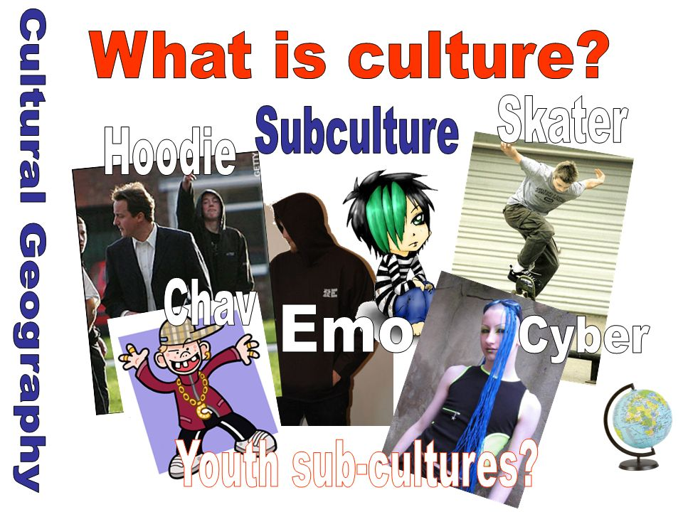 What is culture Skater Subculture Hoodie Cultural Geography Chav Emo Cyber Youth sub-cultures