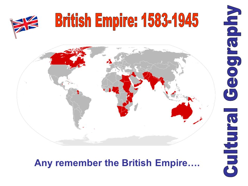 Any remember the British Empire….