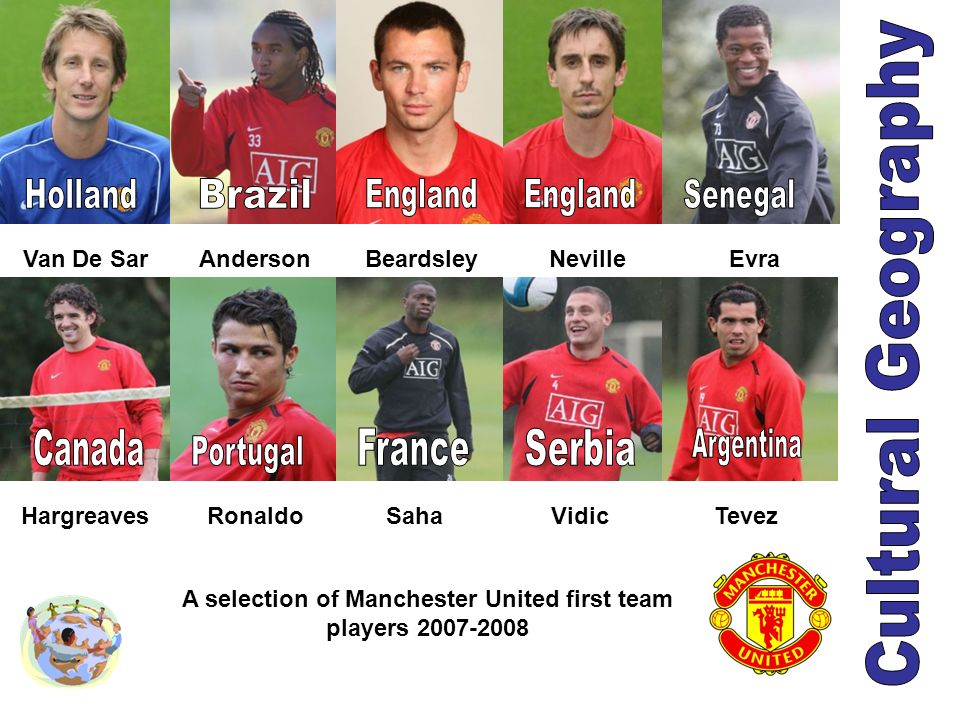 A selection of Manchester United first team players 2007-2008