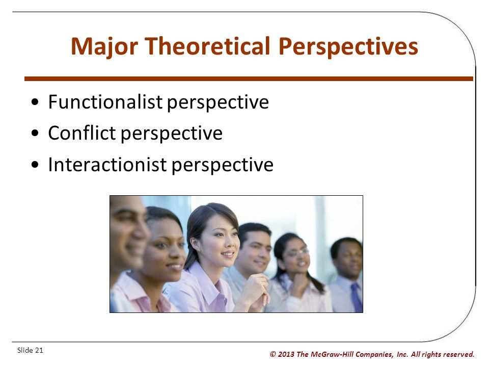 compare the functionalist conflict and interactionist perspectives on the purposes and expectations  An analysis of the three sociological perspectives through analysis, a compare and contrast of the three sociological perspectives: functionalist, conflict, and.