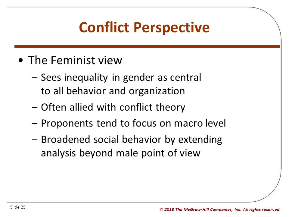 conflict perspective sociology