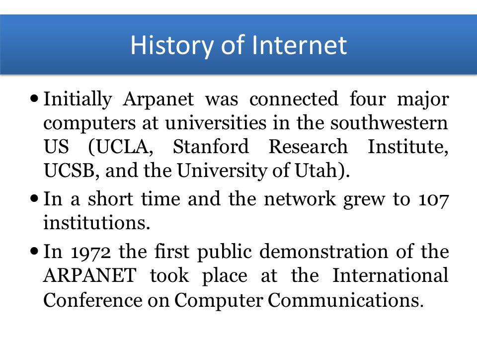 short history of internet pdf