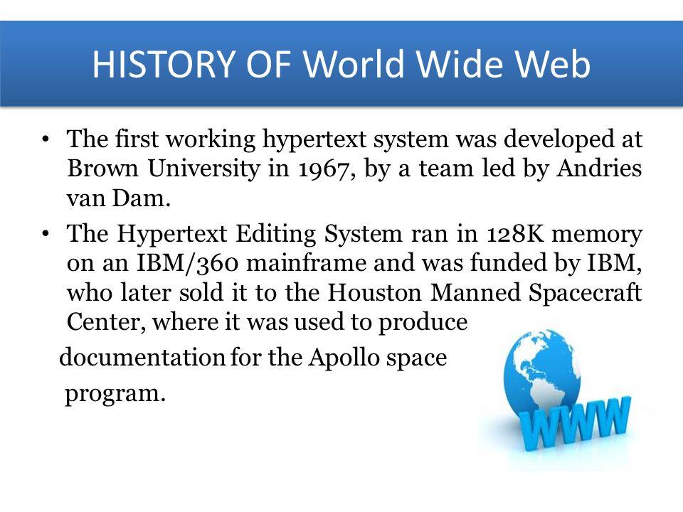 world wide web history essay